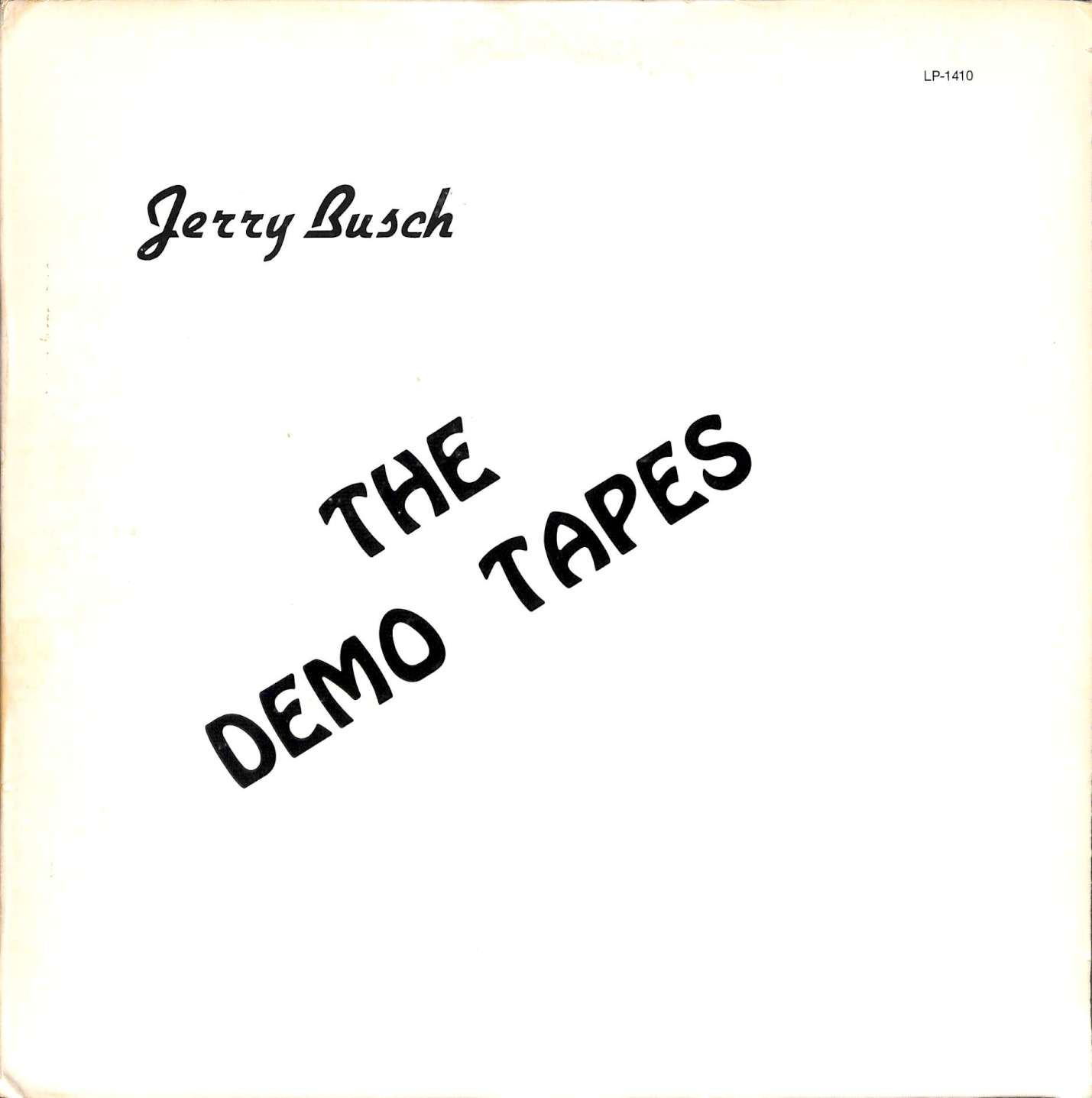 Jerry Busch - The demo tapes (LP)